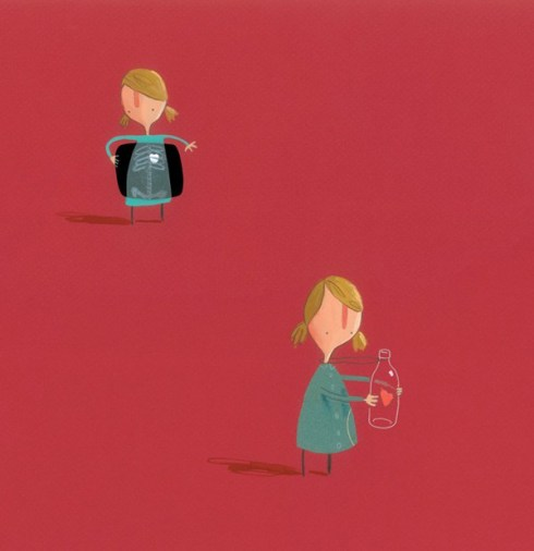 Art by Oliver Jeffers from The Heart and the Bottle